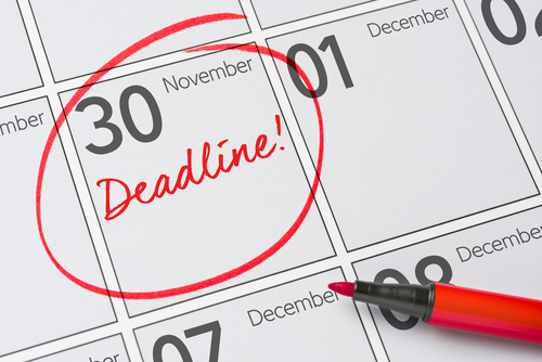 Calendar deadlines to apply to school