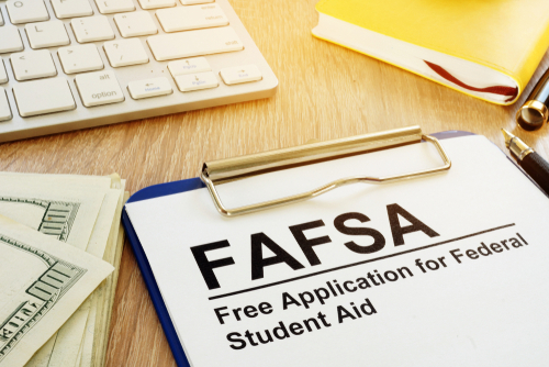 FAFSA form for college financial aid